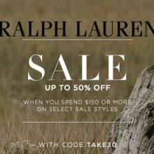 21e75750412b まだまだセール中! Ralph Lauren二千点以上のアイテムが最大50%オフ~! さらに全店で「TAKE30OFF」と書いてある商品をUS$150お買い上げで  コードでさらに30% ...